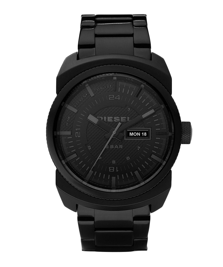 Diesel Men s Franchise Blackout Watch Stainless Steel Band