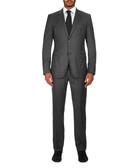 Grey single breasted wool suit