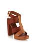 Sam block heel sandals in tan Sale - Elizabeth and James Sale