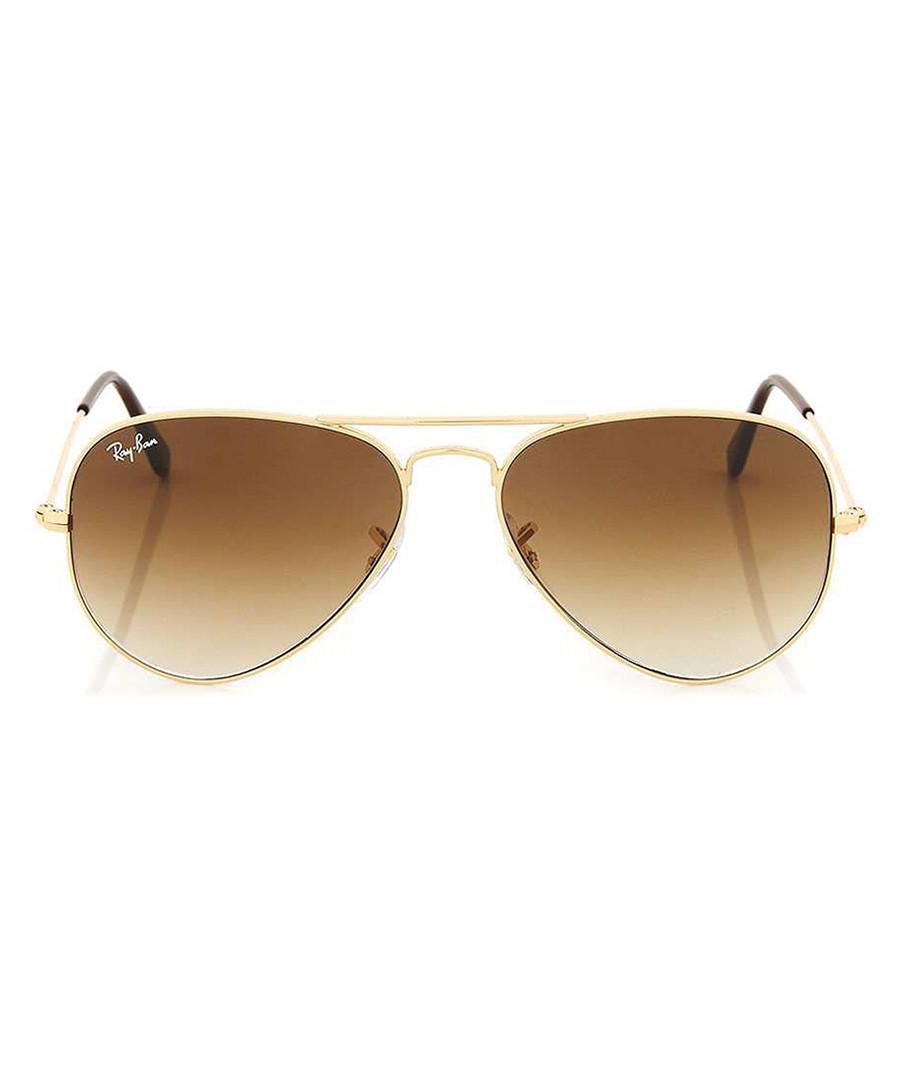 ray ban olive gold tone aviator sunglasses designer accessories sale ray ban sunglasses. Black Bedroom Furniture Sets. Home Design Ideas