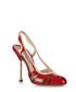 Red slingback leather heels Sale - Prada Sale