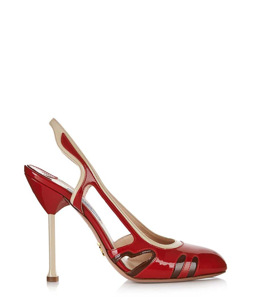 Red slingback leather heels Sale - Prada