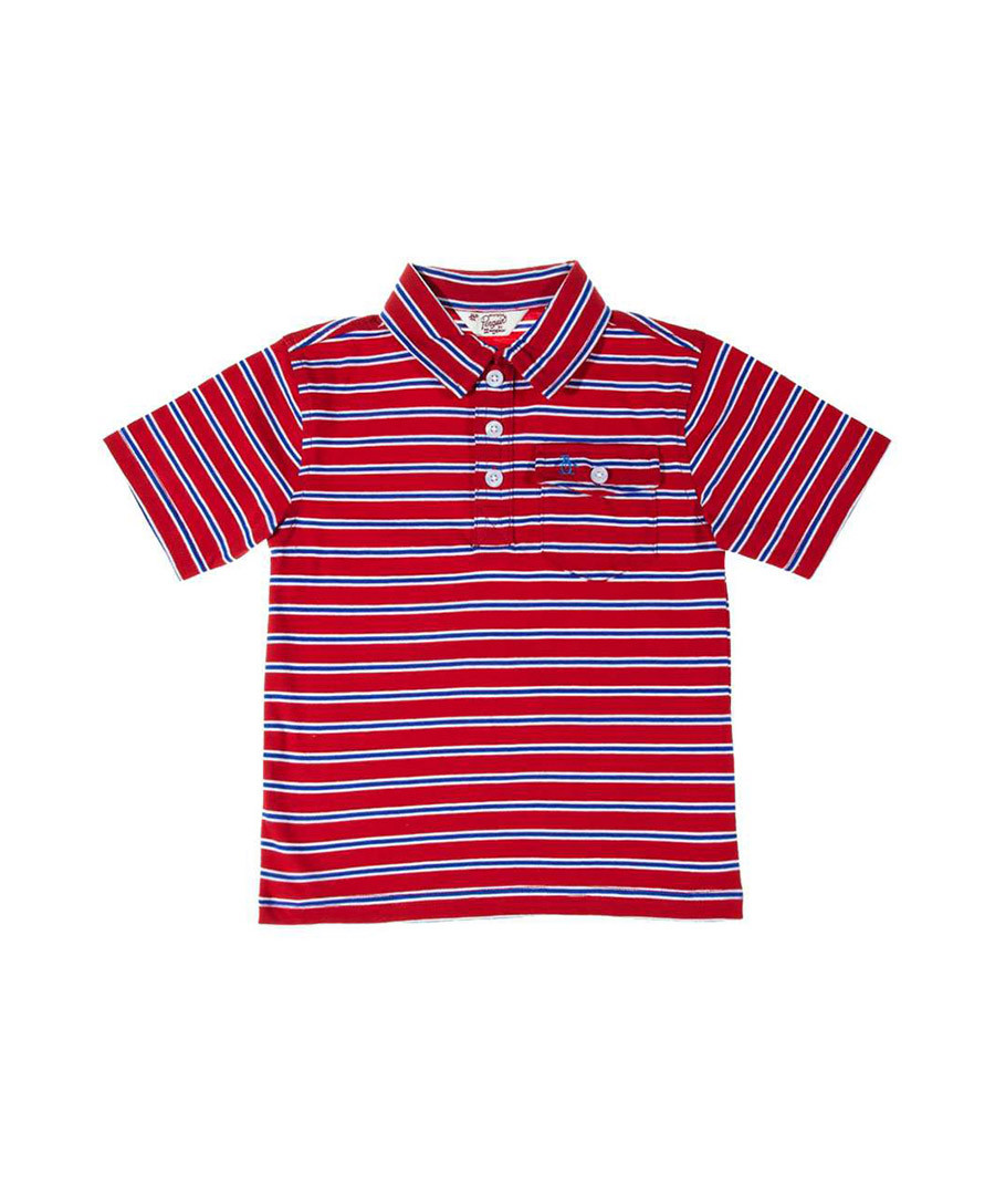 Original penguin red white striped red polo shirt for Red white striped polo shirt