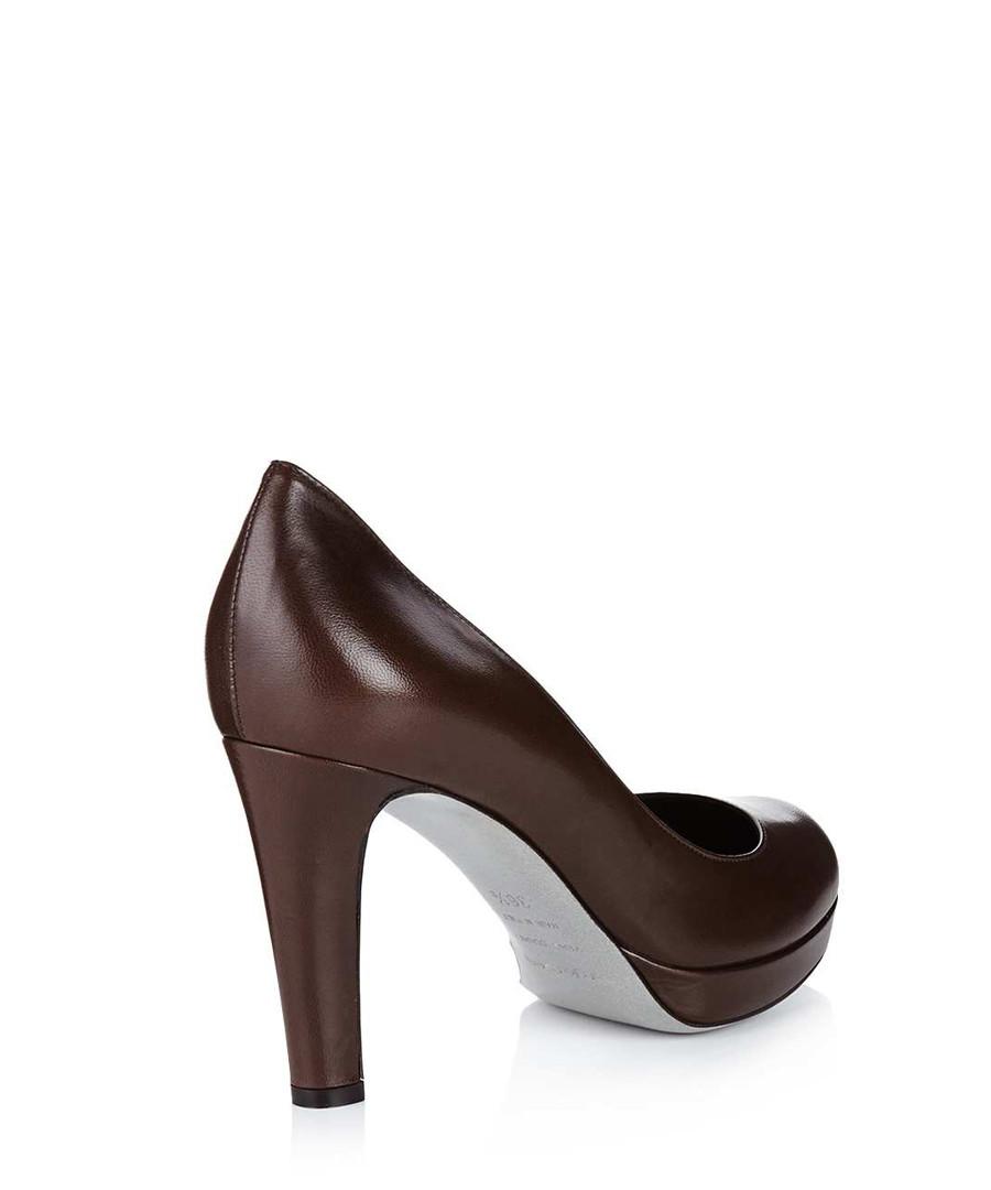 sergio rossi brown leather court shoes designer footwear sale outlet secretsales. Black Bedroom Furniture Sets. Home Design Ideas