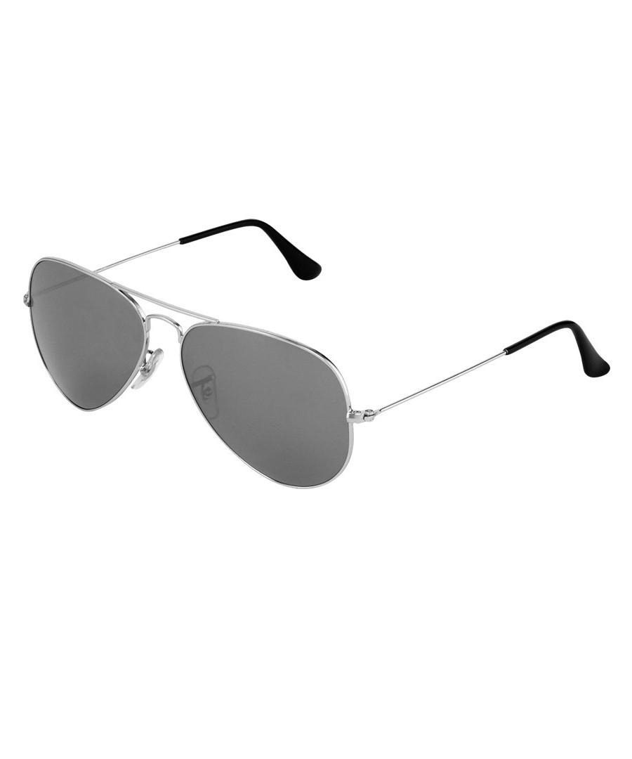 Aviator silver-tone mirrored sunglasses Sale - Ray-Ban