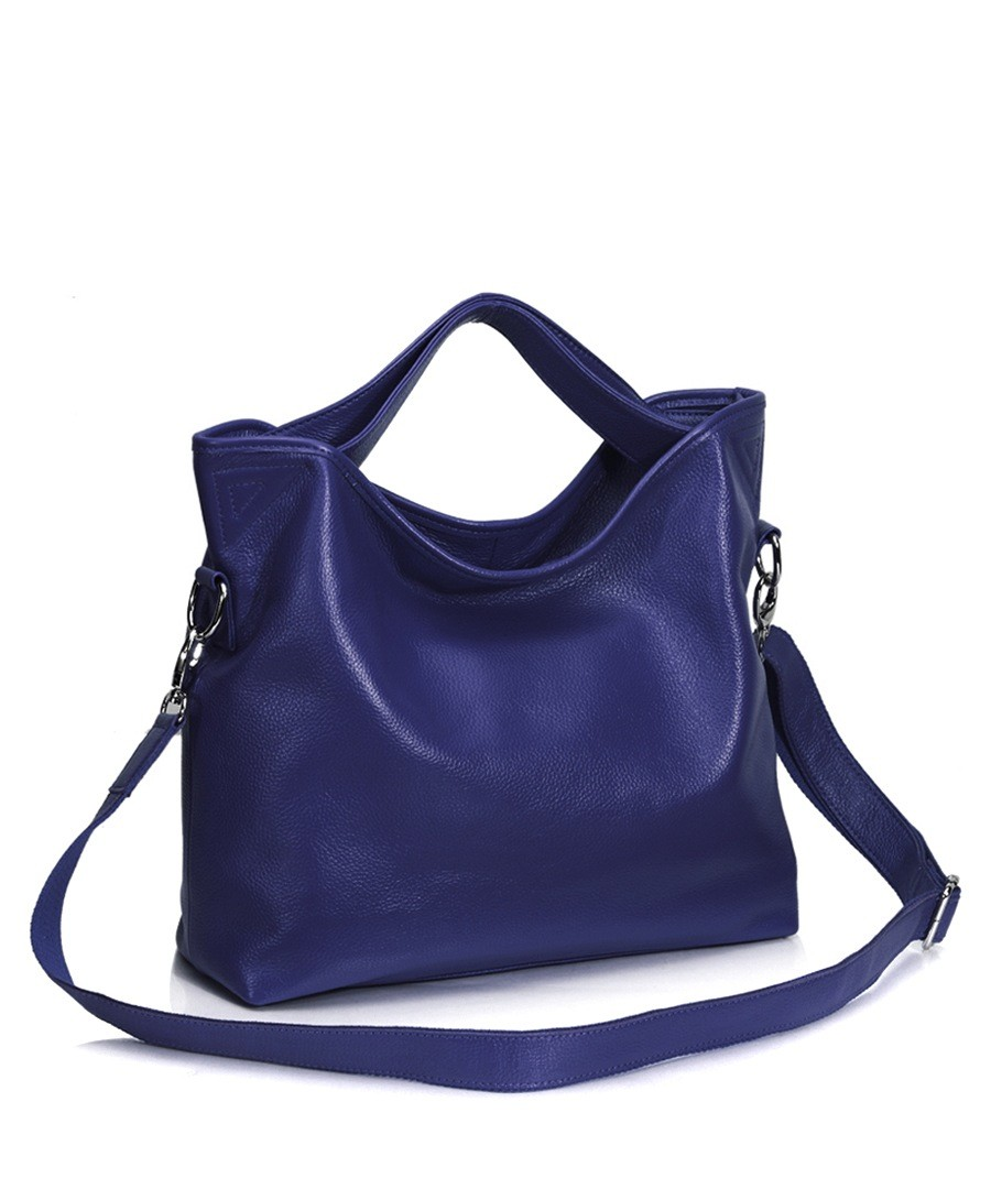 Large royal blue leather slouch bag Sale - CANNCI