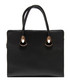 Black leather structured handbag Sale - Roberta M. Sale
