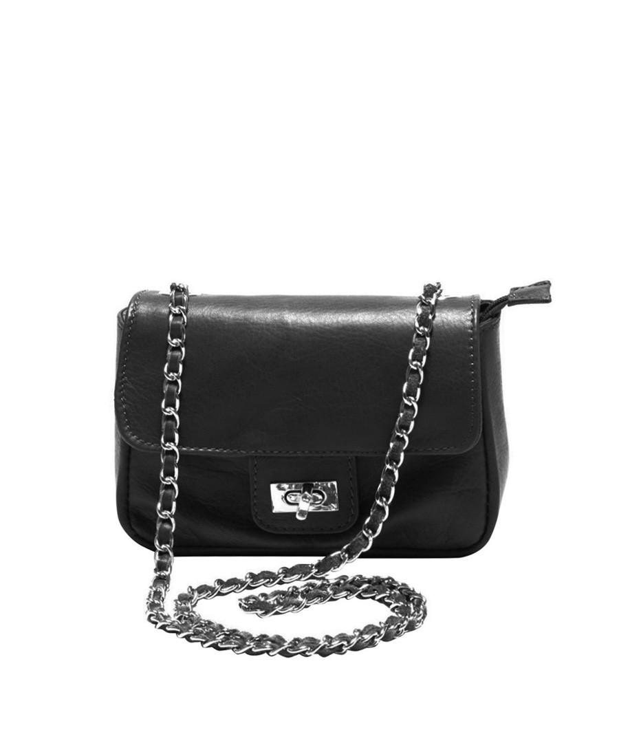 Black leather cross body bag Sale - Roberta M.