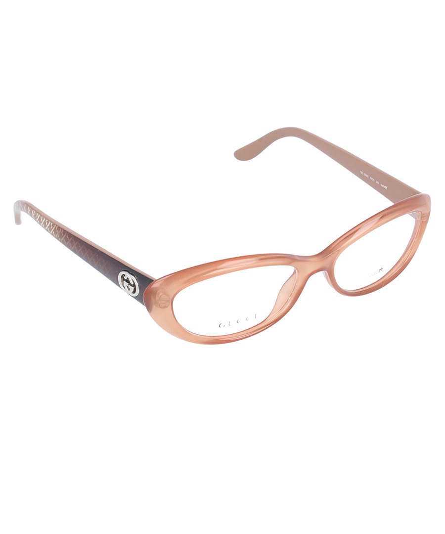 Designer Eyeglass Frames With Crystals : Gucci Crystal peach oval glasses, Designer Accessories ...