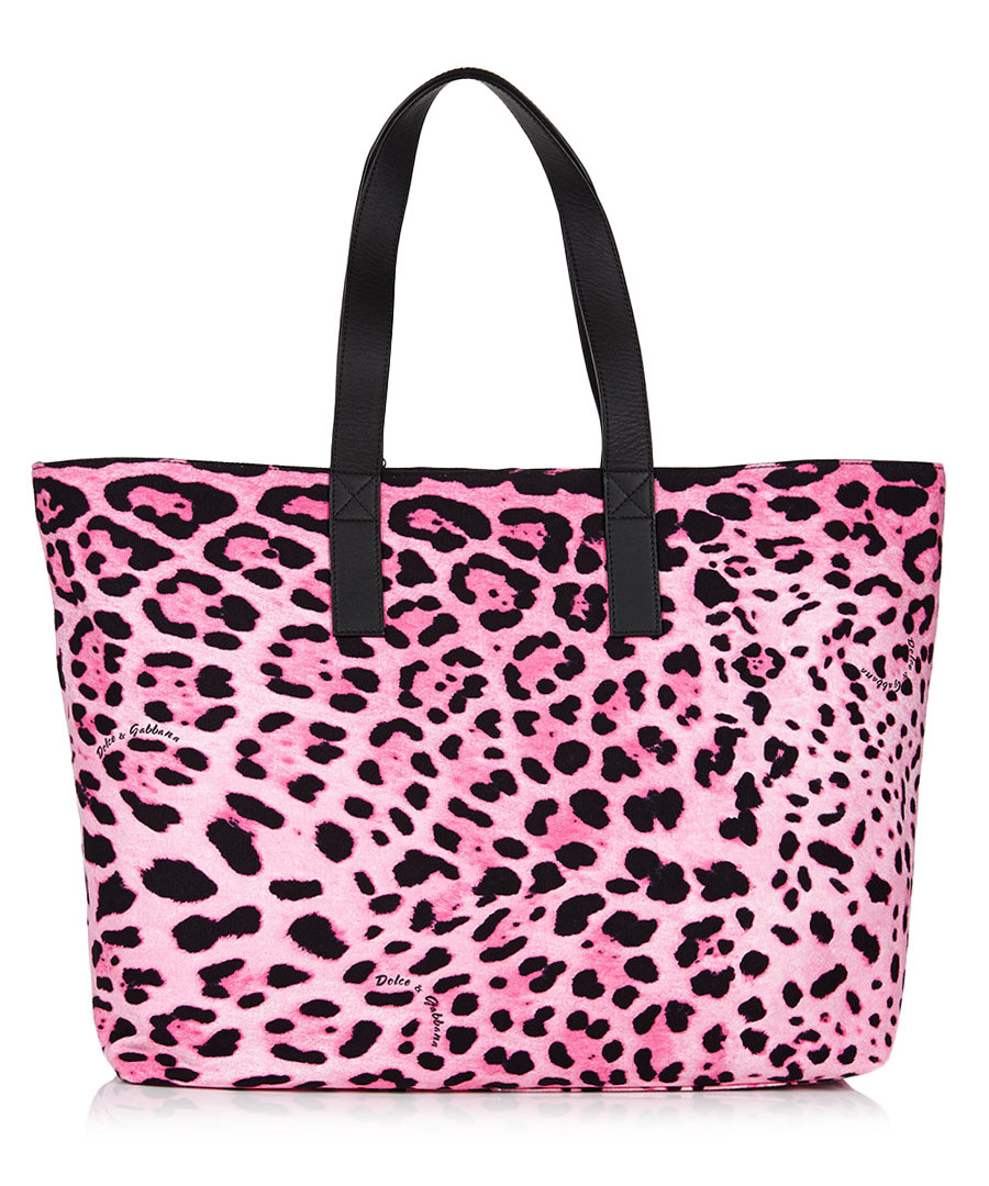 Gabbana Bag With Pink Animal Print