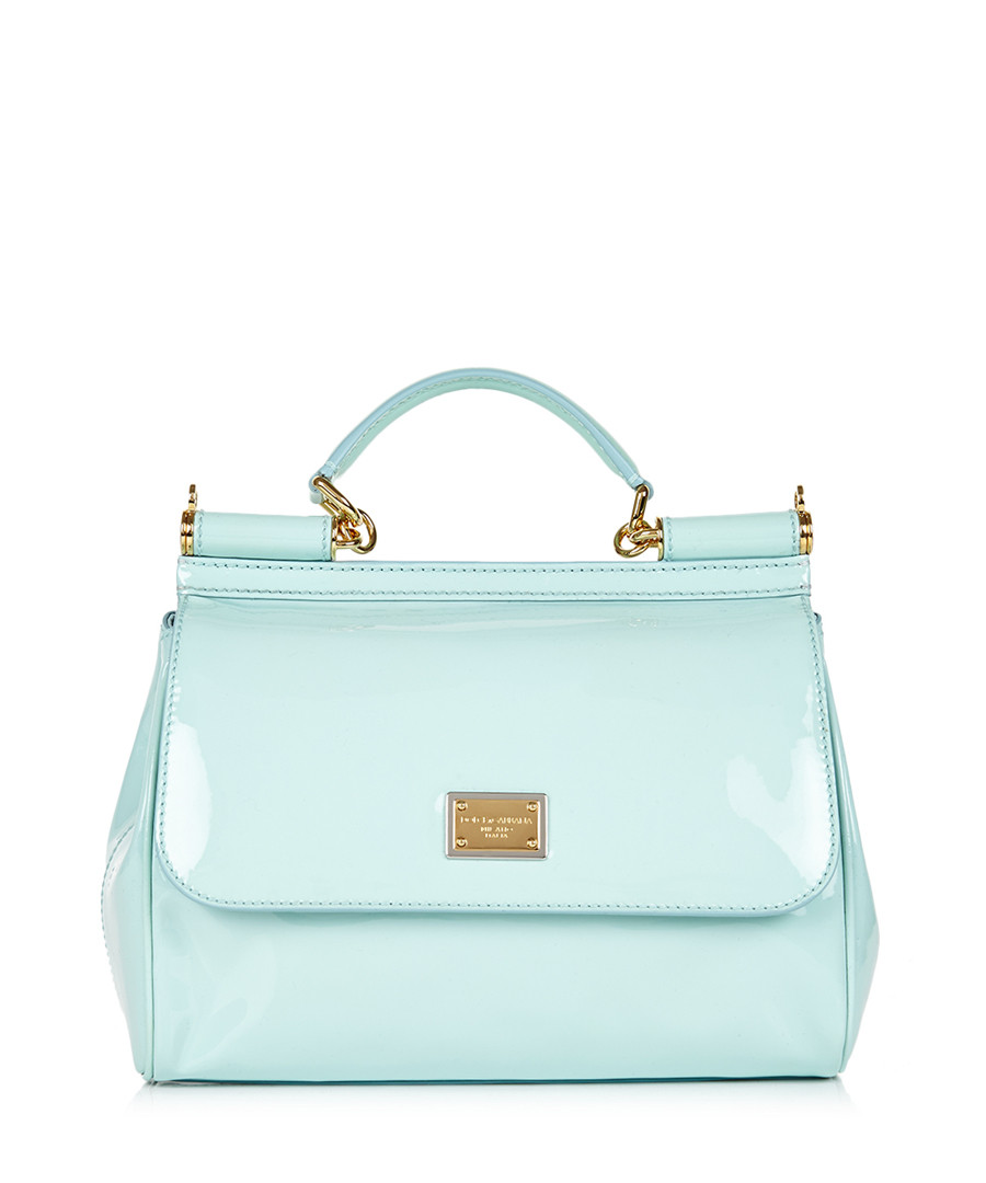 Home Dolce  Gabbana Handbags Baby blue patent leather grab bag