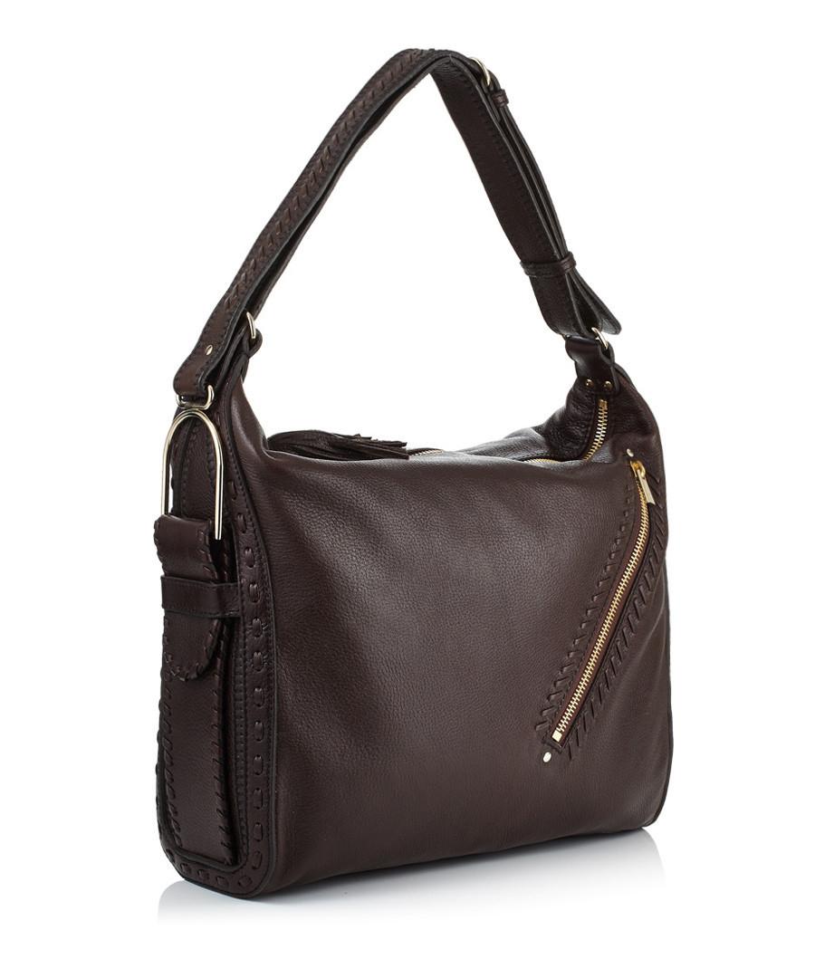 jimmy choo lily brown leather bag designer bags sale jimmy choo handbags secretsales. Black Bedroom Furniture Sets. Home Design Ideas