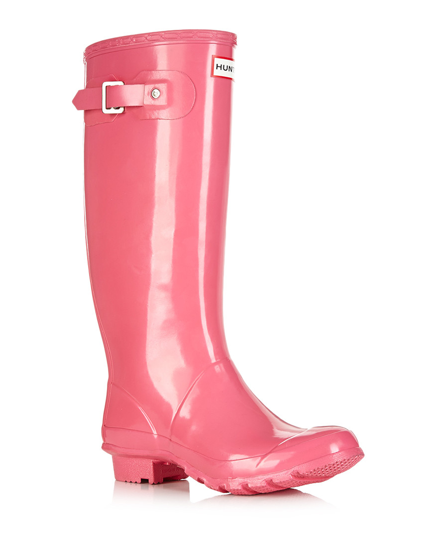 hunter huntress fuchsia wellington boots designer footwear sale outlet secretsales. Black Bedroom Furniture Sets. Home Design Ideas