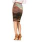 Sunrise burnt orange skirt Sale - Art on Fashion Sale