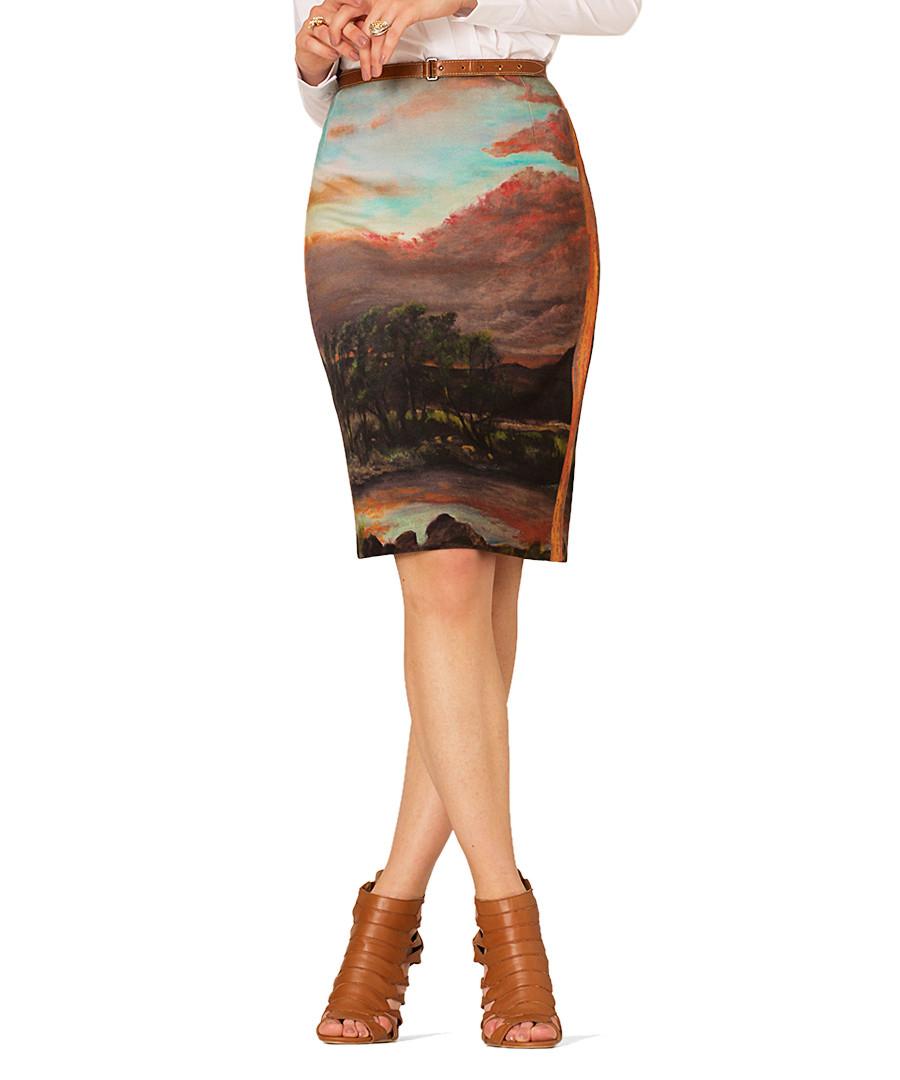 Sunrise burnt orange skirt Sale - Art on Fashion
