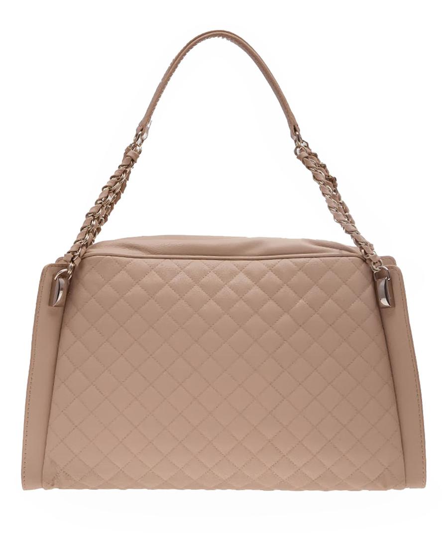love moschino beige quilted shoulder bag designer bags sale love moschino handbags secretsales. Black Bedroom Furniture Sets. Home Design Ideas