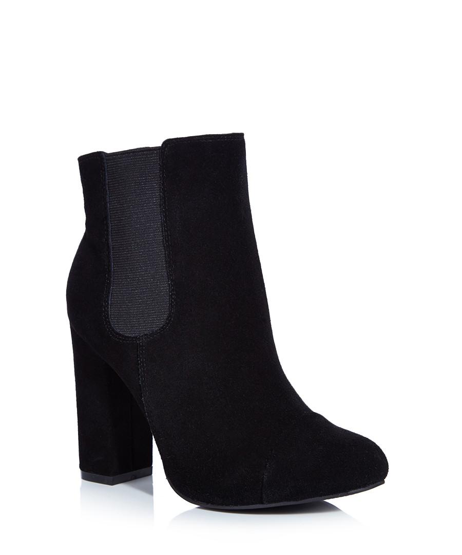 rebel tonga black suede ankle boots designer