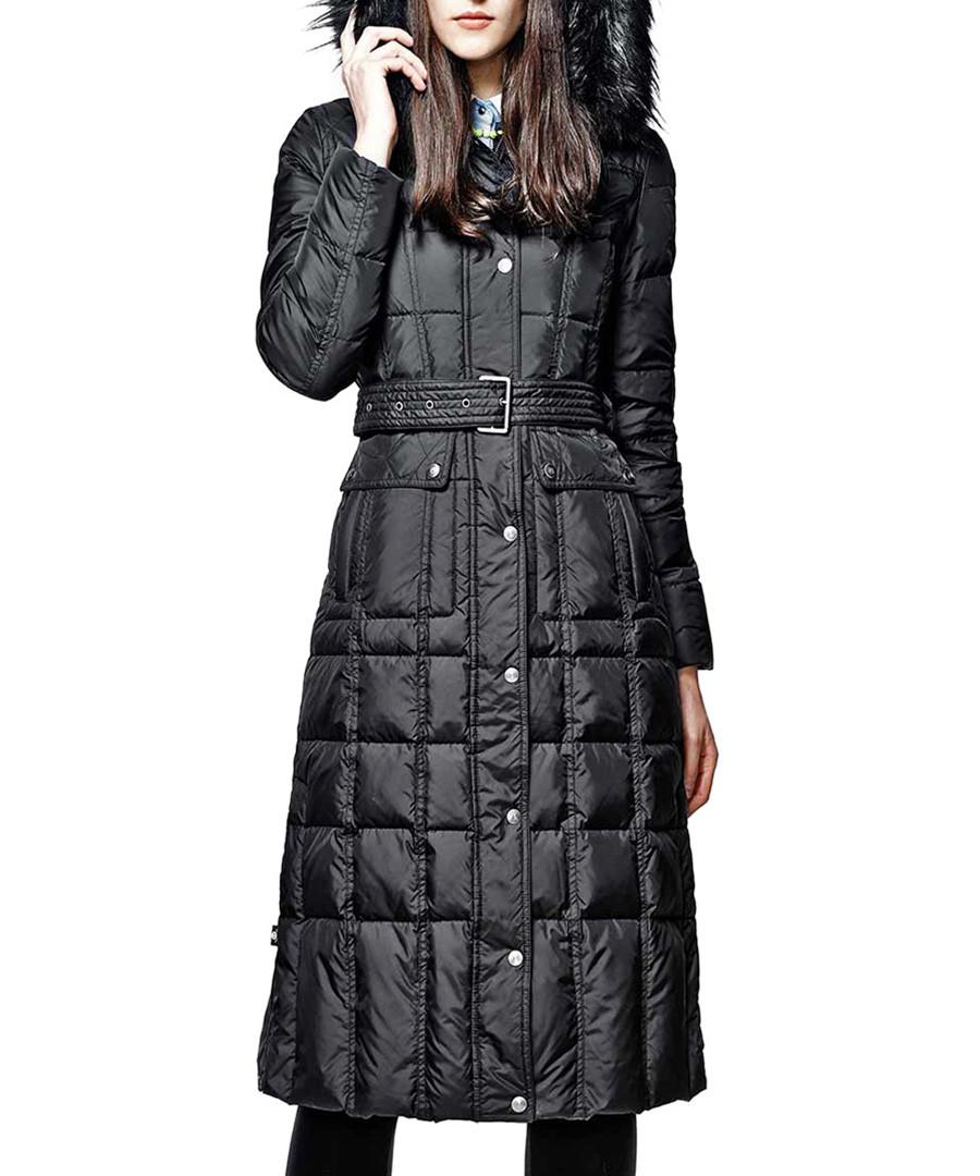 Othermix Black feather filled down long coat, Designer ...