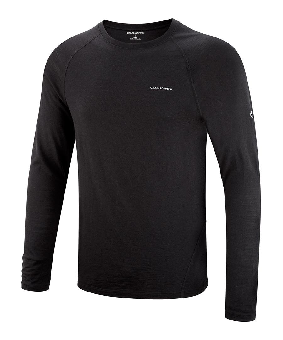 craghoppers merino wool black t shirt designer topwear