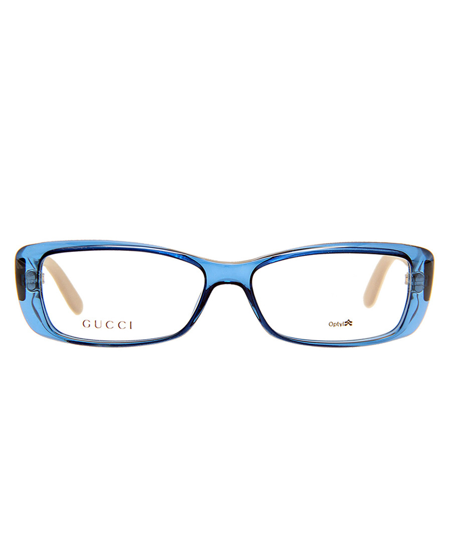 Transparent blue tortoise logo frames Sale - GucciGucci Logo Transparent