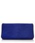 Cobalt blue suede clutch bag Sale - Tom Ford Sale