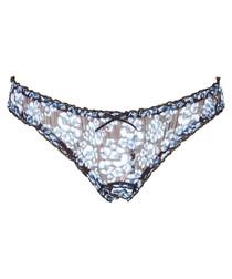 Blue Brazilian thong