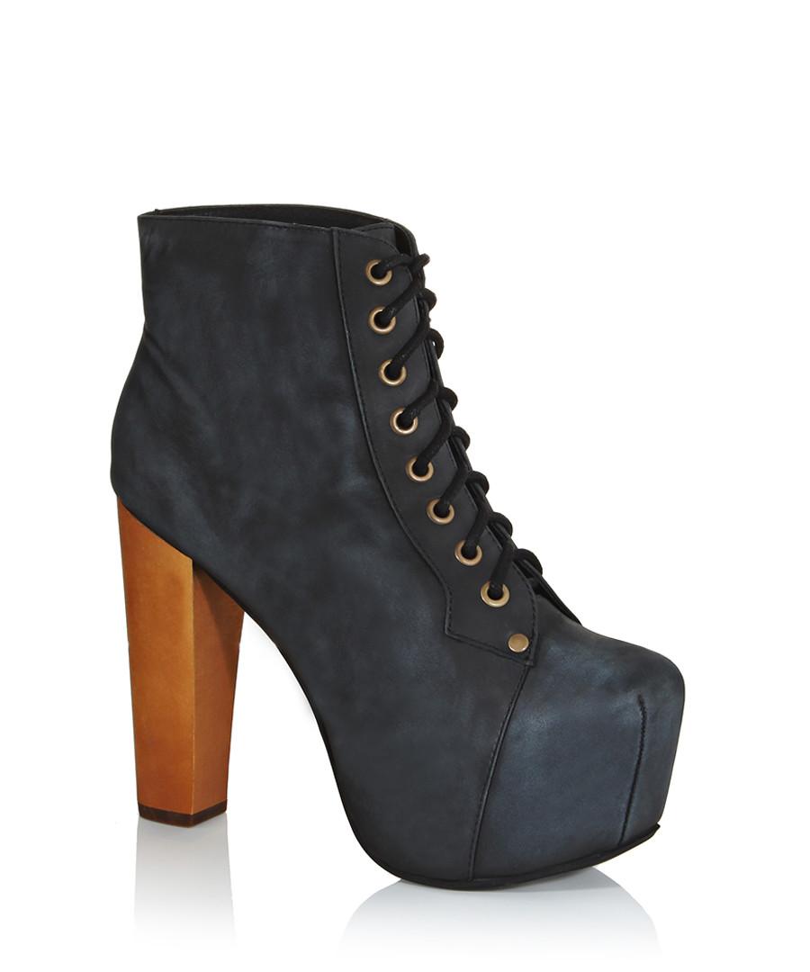 jeffrey campbell lita black distressed leather boots designer footwear sale jeffrey campbell. Black Bedroom Furniture Sets. Home Design Ideas
