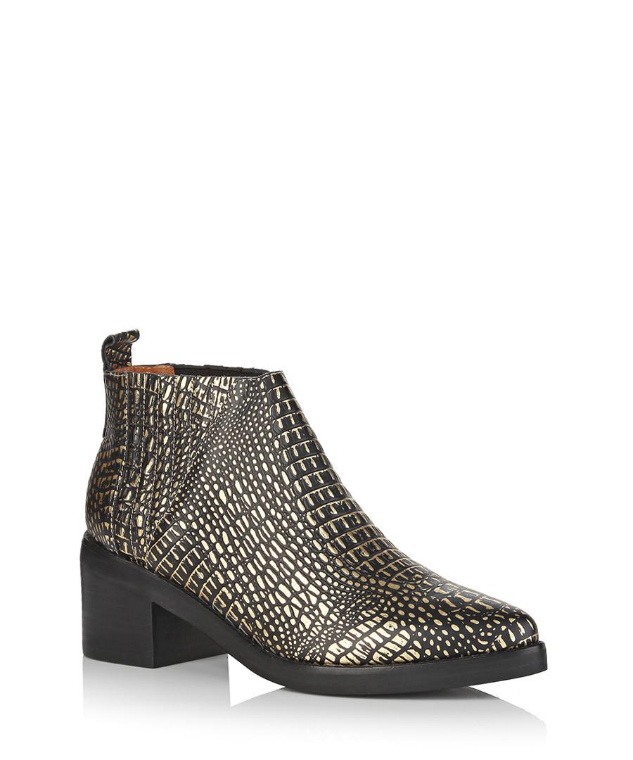 jeffrey campbell weber gold boots designer footwear sale jeffrey campbell secretsales. Black Bedroom Furniture Sets. Home Design Ideas