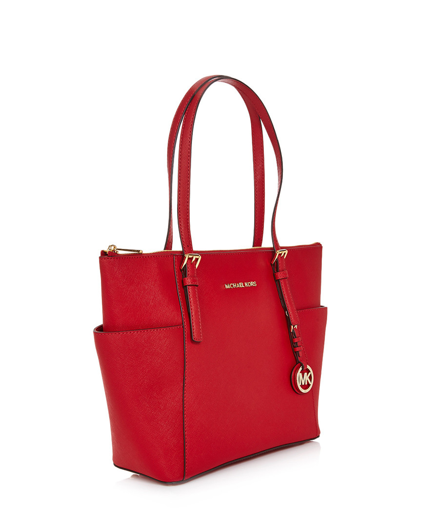 michael kors red leather winged tote bag designer bags sale michael kors handbags secretsales. Black Bedroom Furniture Sets. Home Design Ideas