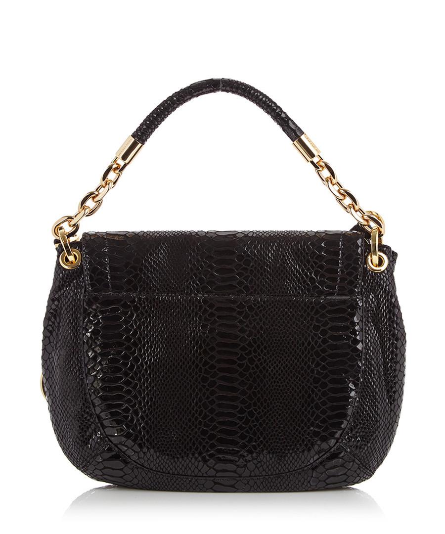 Michael Kors Black textured leather shoulder bag, Designer