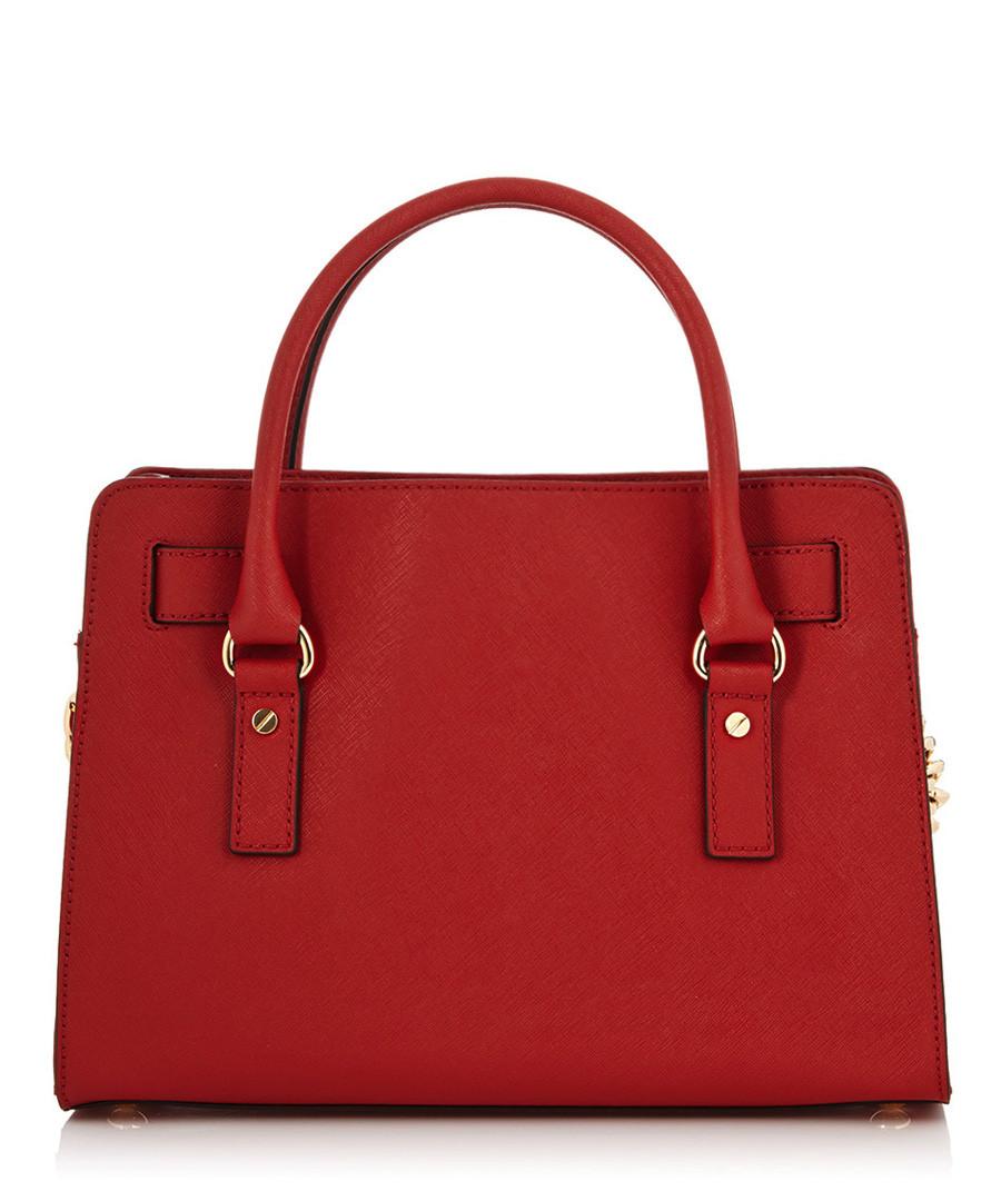 d5fe6530fb2fa9 Michael Kors Red leather padlock satchel, Designer Bags Sale, Michael Kors  Handbags , SECRETSALES