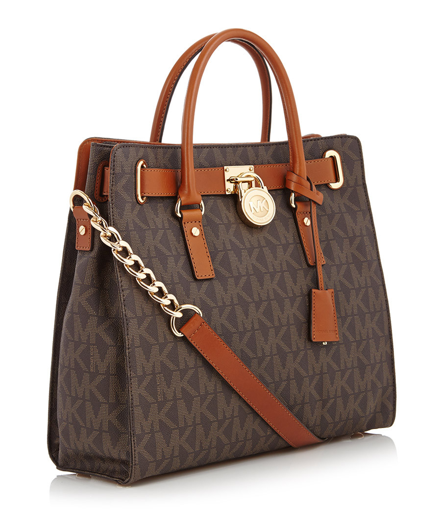79a1f834a598 Leather Tote Bag Sale. Burberry Black logo leather tote bag, Designer Bags  Sale, Outlet , SECRETSALES Michael Kors Brown leather perforated ...