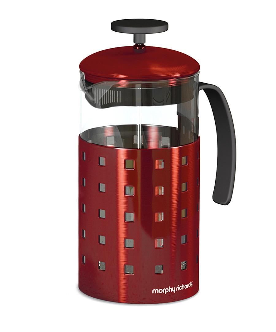 morphy richards red 8 cup cafetiere designer homeware. Black Bedroom Furniture Sets. Home Design Ideas