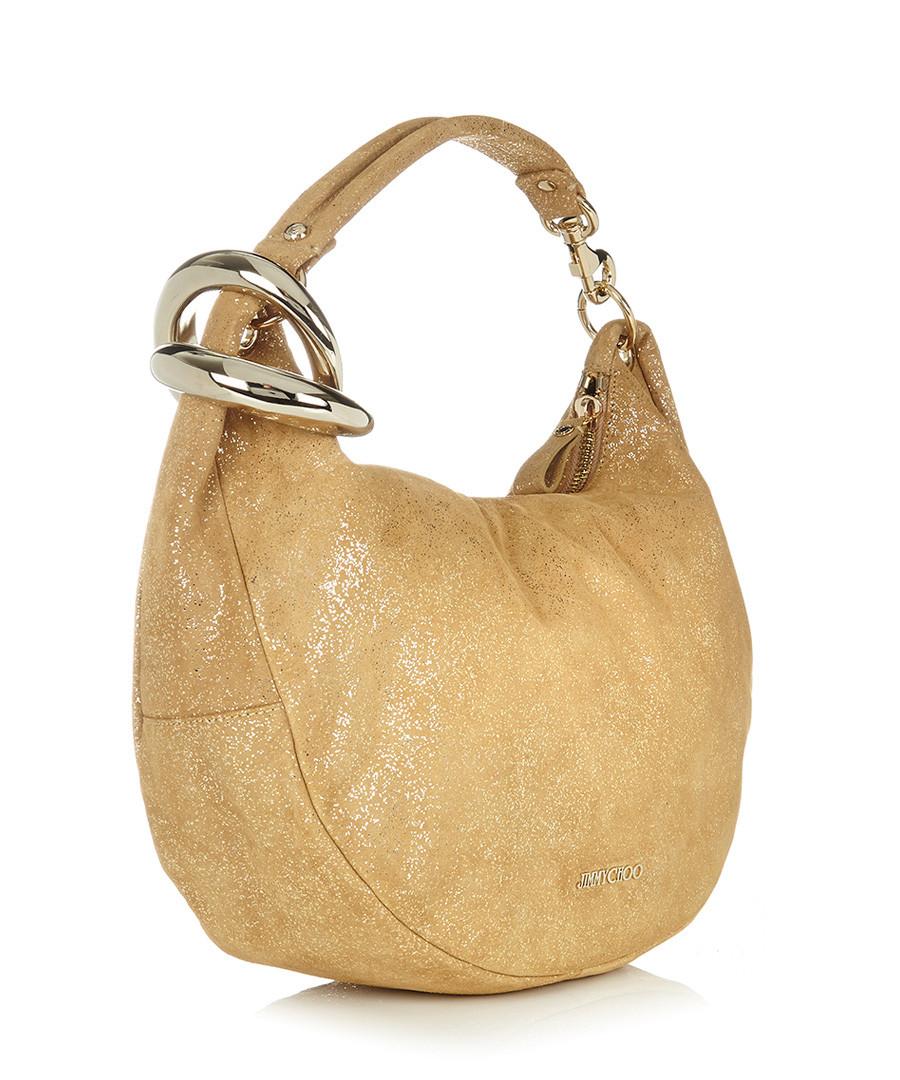 Jimmy Choo Gold-tone leather shoulder bag, Designer Bags ...