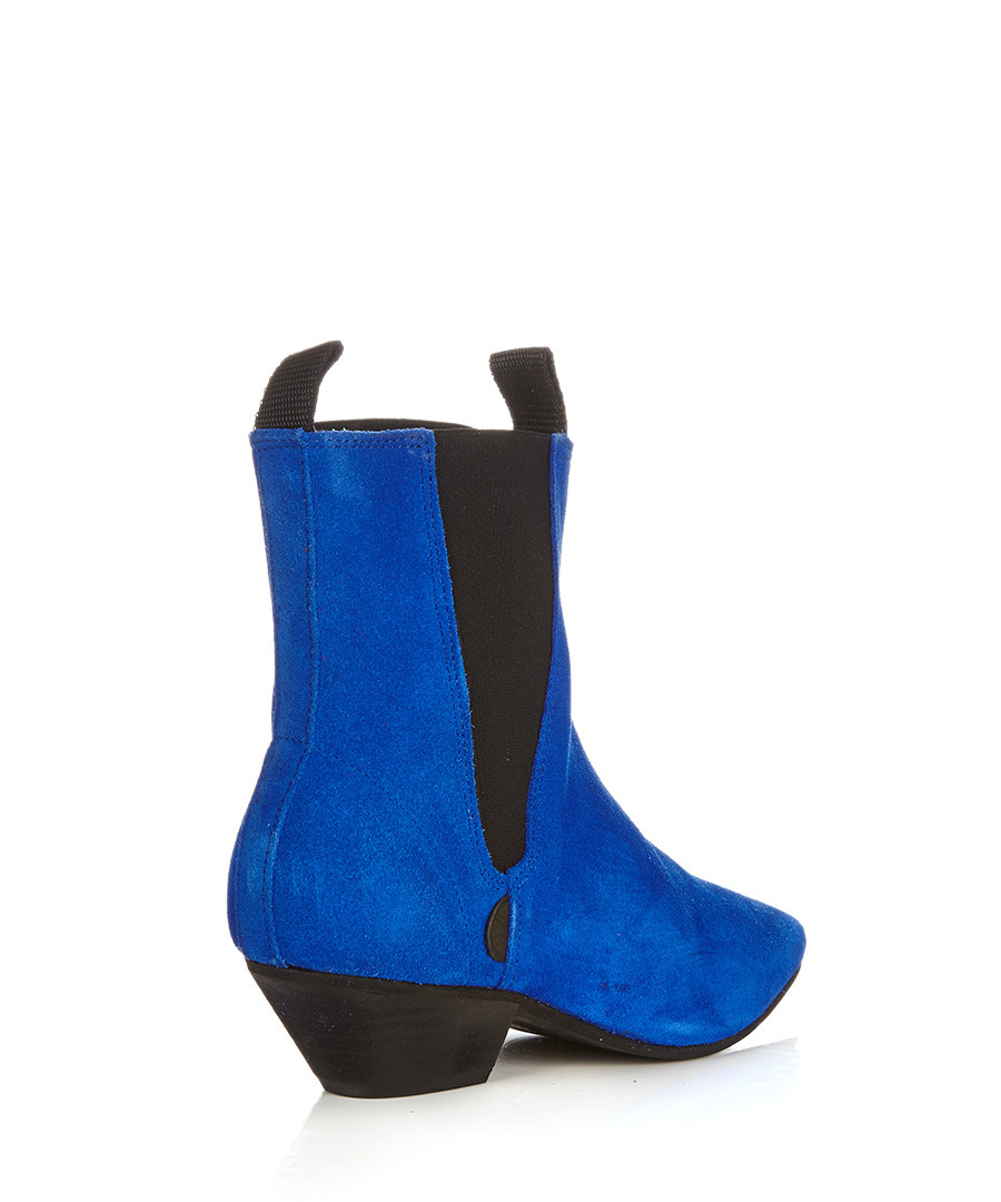 underground s royal blue suede chelsea boots