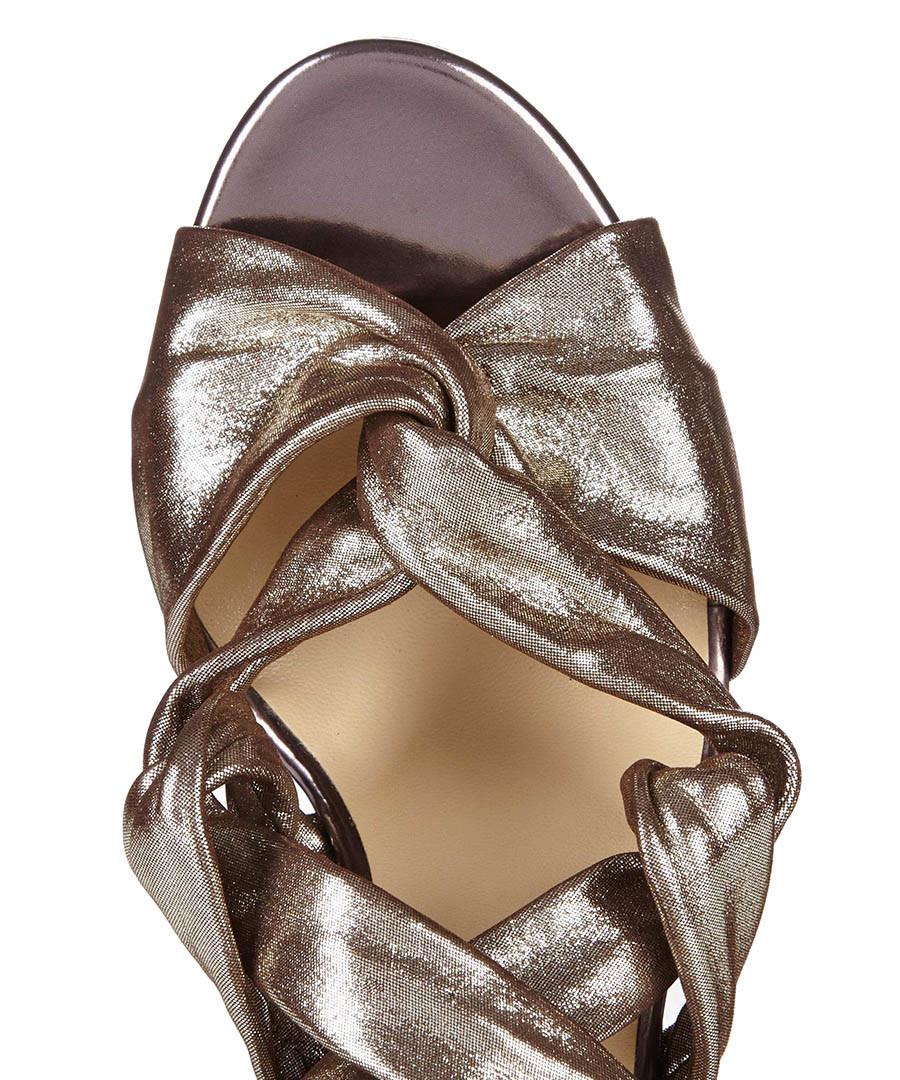 jimmy choo kami gunmetal leather heels designer footwear sale jimmy choo shoes secretsales. Black Bedroom Furniture Sets. Home Design Ideas
