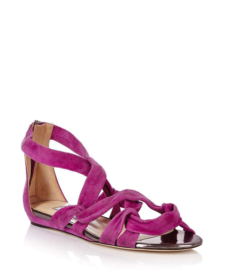 jimmy choo kesia orchid suede sandals designer footwear sale jimmy choo shoes secretsales. Black Bedroom Furniture Sets. Home Design Ideas