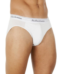 3 pack white cotton blend briefs