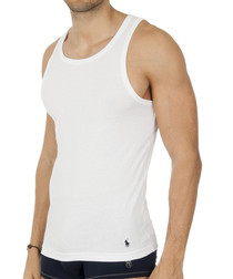 2 pack white pure cotton vests