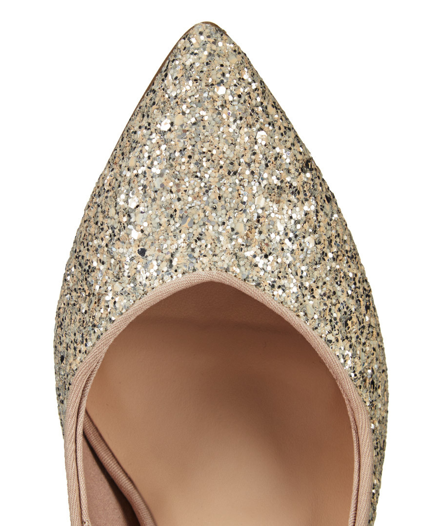 Glitter Pointe Leila Nude Glitter Pointed
