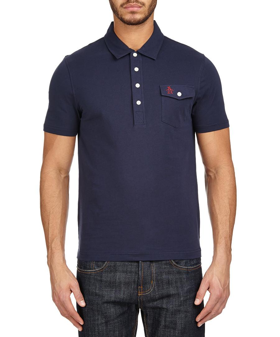 Original penguin navy pocket logo polo shirt designer for Amazon logo polo shirts