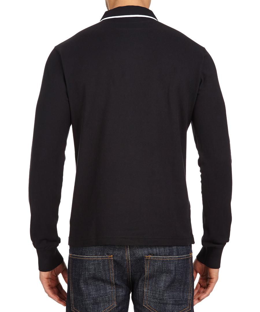 Original Penguin Black White Long Sleeve Polo Shirt