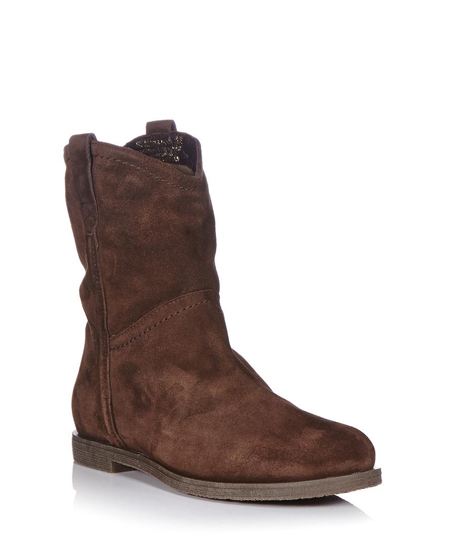 mascotte s brown suede cowboy style boots designer