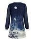 Winter Wonderland blue printed dress Sale - Yumi Sale
