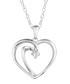 0.5ct diamond & silver heart necklace Sale - Josephs 1870 Sale