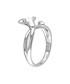 0.011ct diamond & silver flower ring Sale - Josephs 1870 Sale