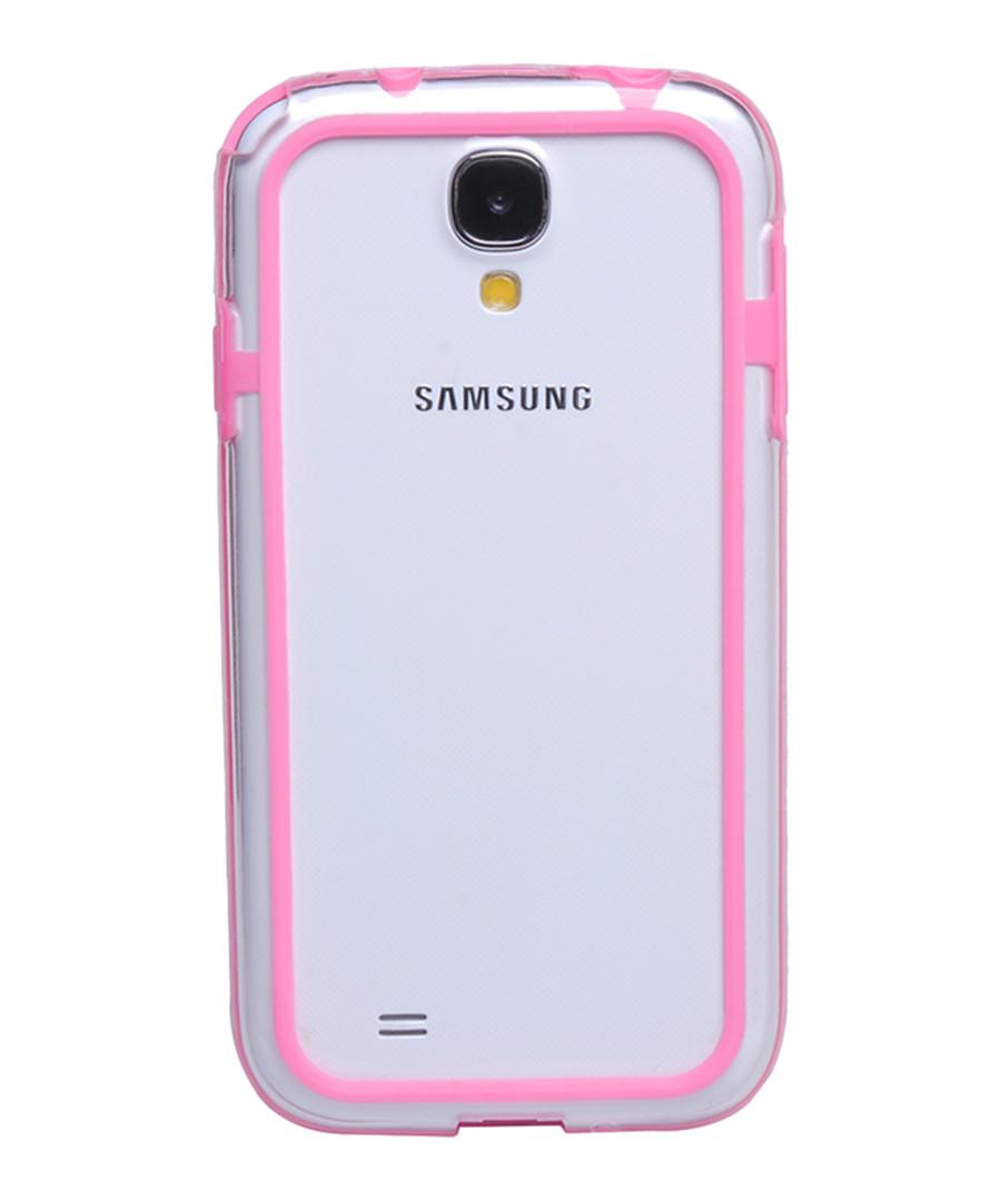 Galaxy S4 Pink Transparent Bumper Sale - INKI