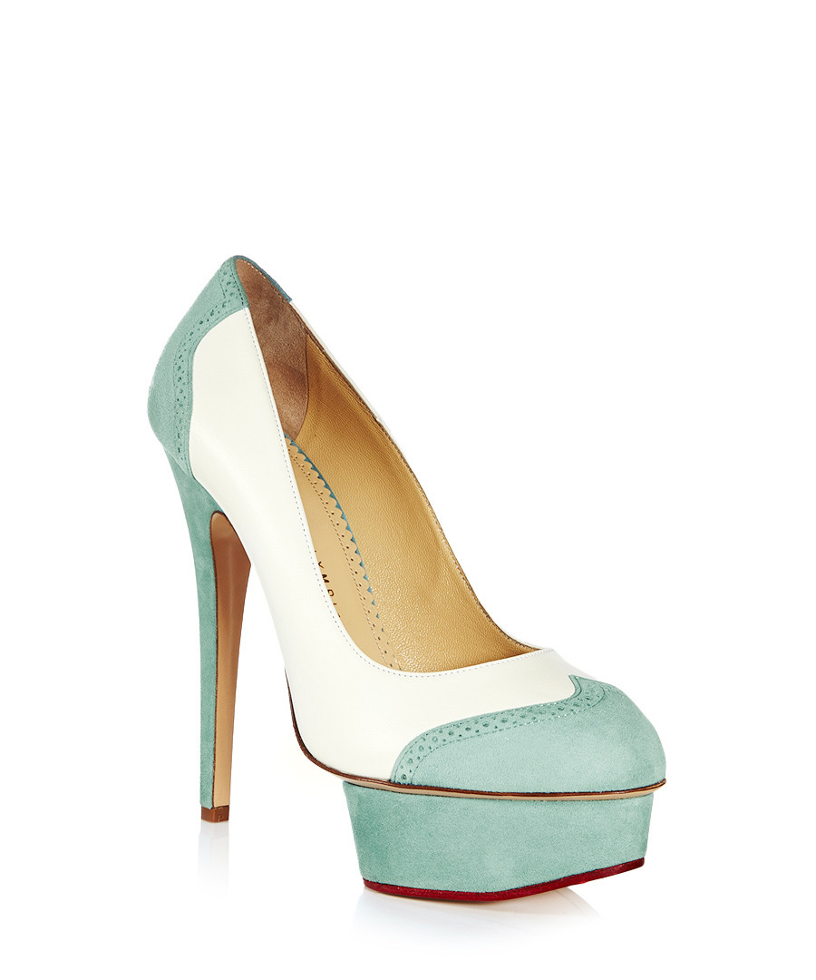 charlotte olympia spectator white sky blue leather heels designer footwear sale charlotte. Black Bedroom Furniture Sets. Home Design Ideas
