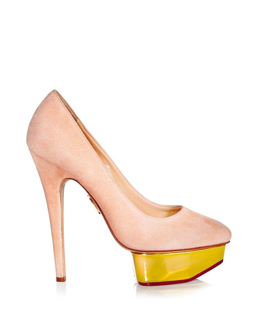 charlotte olympia cindy blush suede heels designer footwear sale charlotte olympia secretsales. Black Bedroom Furniture Sets. Home Design Ideas