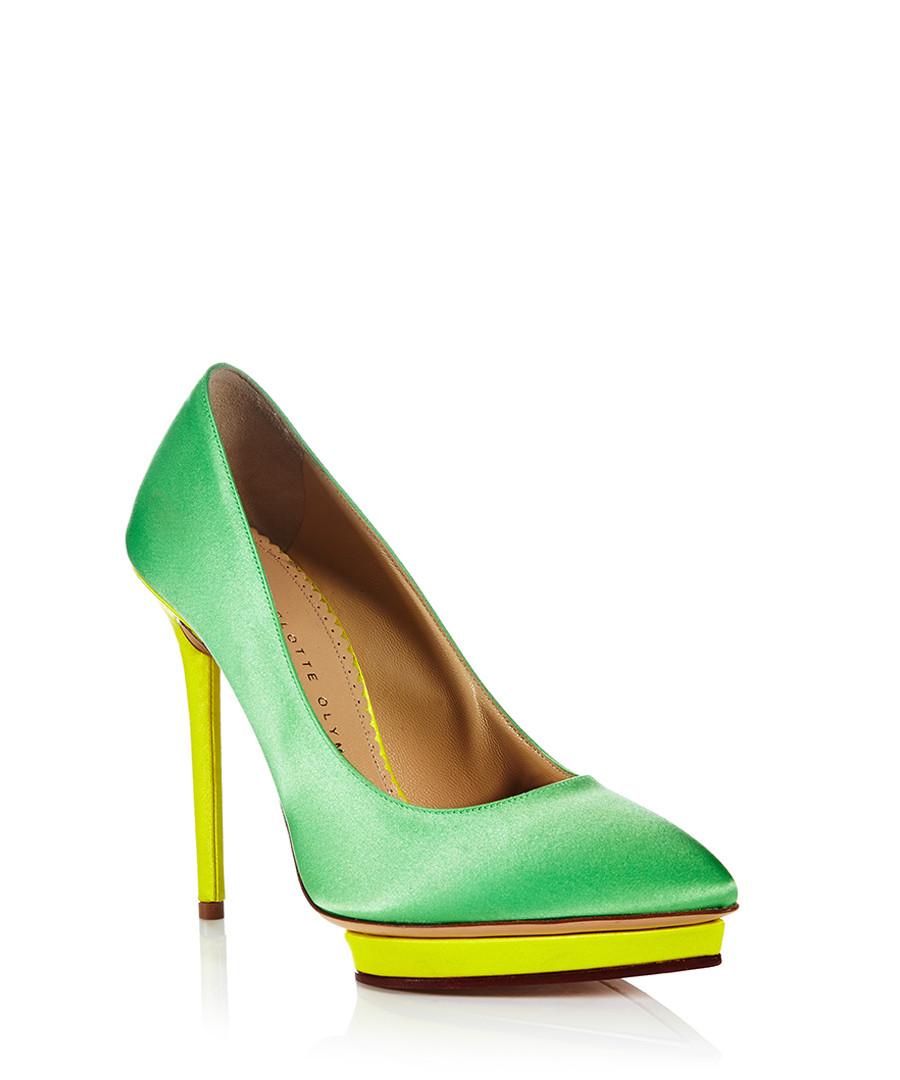 charlotte olympia debonaire emerald satin court shoes designer footwear sale designer shoe. Black Bedroom Furniture Sets. Home Design Ideas